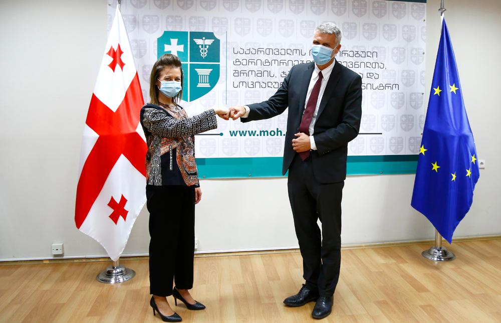 ჯანდაცვის მინისტრის შეხვედრა მსოფლიო ბანკის რეგიონულ დირექტორთან