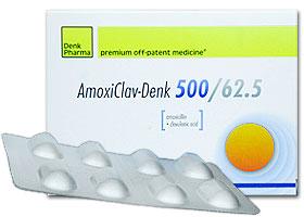 ამოქსიკლავ-დენკი 500/62.5 / AMOXICLAV DENK 500/62.5