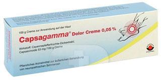 კაპსაგამა დოლორ კრემი 0,05% / Capsagamma® Dolor Creme 0,05%