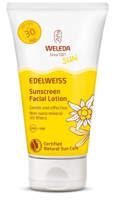 ედელვაისის მზისგან დამცავი სახის კრემი, ფაქტორი 30 - ველედა / Edelweis Sunscreen Facial Lotion - WELEDA