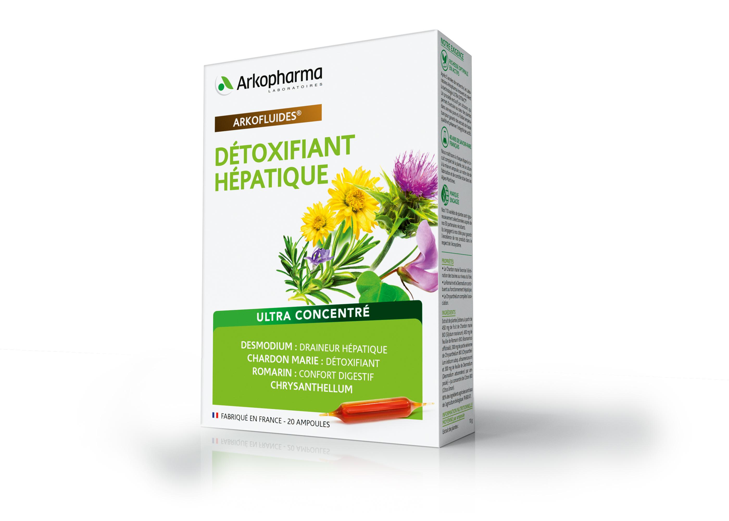 არკოფლუიდი ღვიძლის დეტოქსი / Arkofluides Hepatic Detox