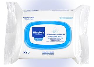 გასაწმენდი ხელსახოცები - მუსტელა / Dermo-soothing wipes