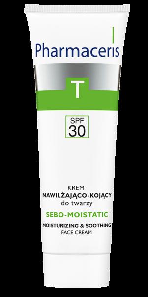 სახის დამატენიანებელი და დამამშვიდებელი დღის კრემი - ფარმაცერისი / SPF 30 – SEBO-MOISTATIC - Pharmaceris