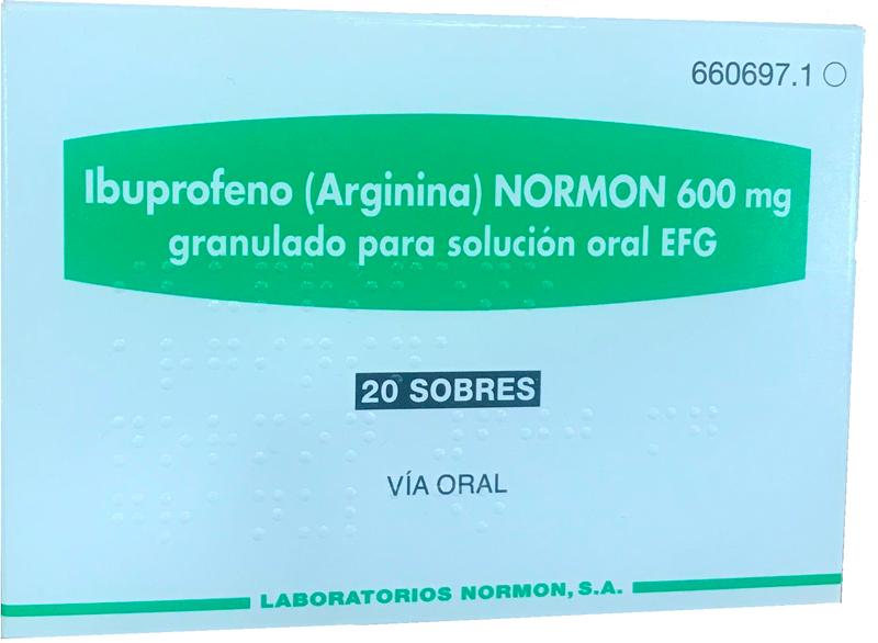იბუპროფენი (არგინინი) ნორმონი / Ibuprofen (Arginin) Normon