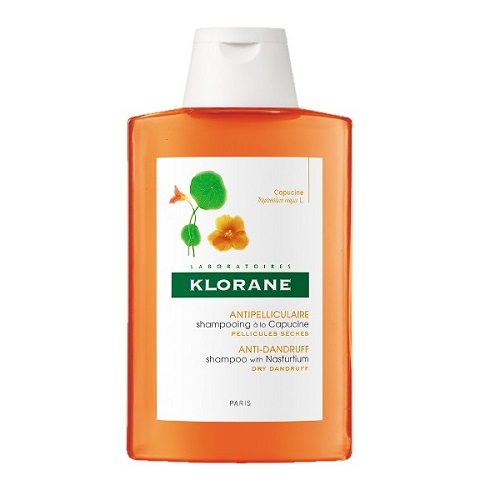 კლორანი - კაპუცინის (დედოფლის ყვავილი) მშრალი ქერტლის სამკურნალო შამპუნი / Klorane - Shampoo with Capucine