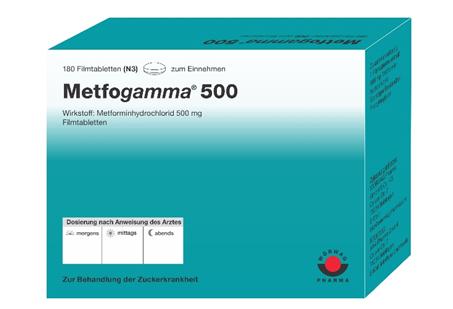 მეტფოგამა 500 / Metfogamma 500