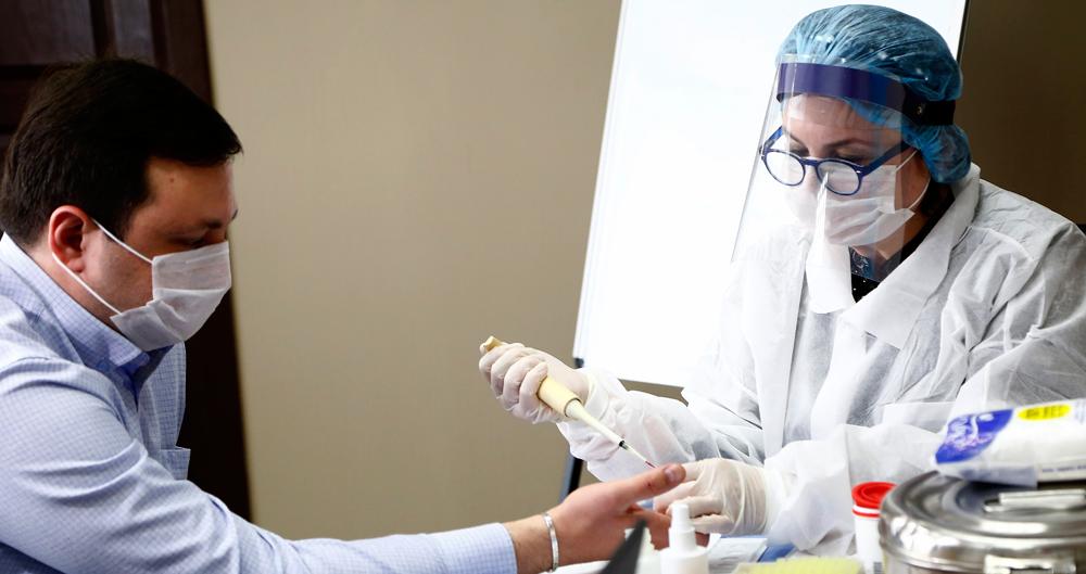 ახალ კორონავირუსთან დაკავშირებით, სისხლის პროდუქტების მარაგის პოტენციური დეფიციტის აღმოფხვრის მიზნით ჯანდაცვის სამინისტროში სისხლის უანგარო დონაციის აქცია გაიმართა
